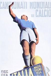 Manifesto Italia - Campionati Mondiali di Calcio 1934
