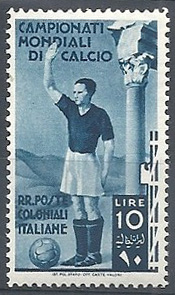 Francobollo Campionati Mondiali di Calcio 1934