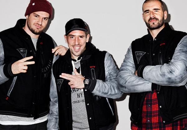 foto di Ribery con i suoi amici rappers