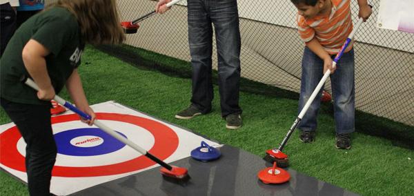 foto di Valerio al curling