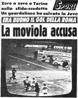 Titolo di giornale «La moviola accusa»