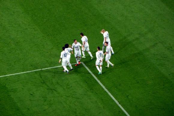 foto dei festeggiamenti di Ronaldo dopo il suo secondo gol