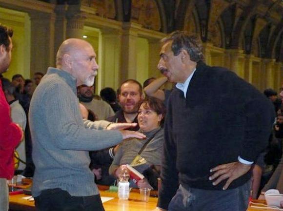 foto di Paolo Sollier con Marino Bartoletti (e São Pedrinho)