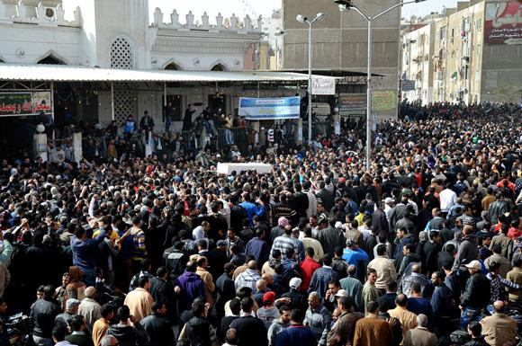 Funerale per i morti a Port Said di sabato 27 Gennaio 2012