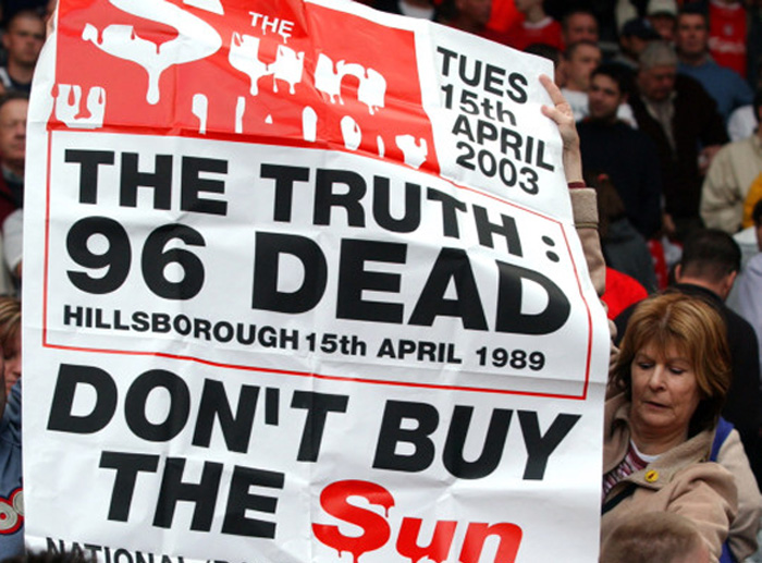 Hillsborough, supporter contro il Sun