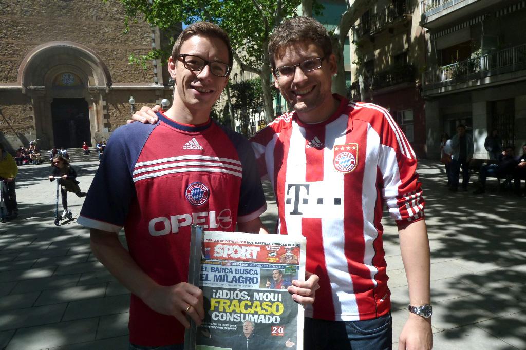 @Gori - tifosi prima di Barça-Bayern