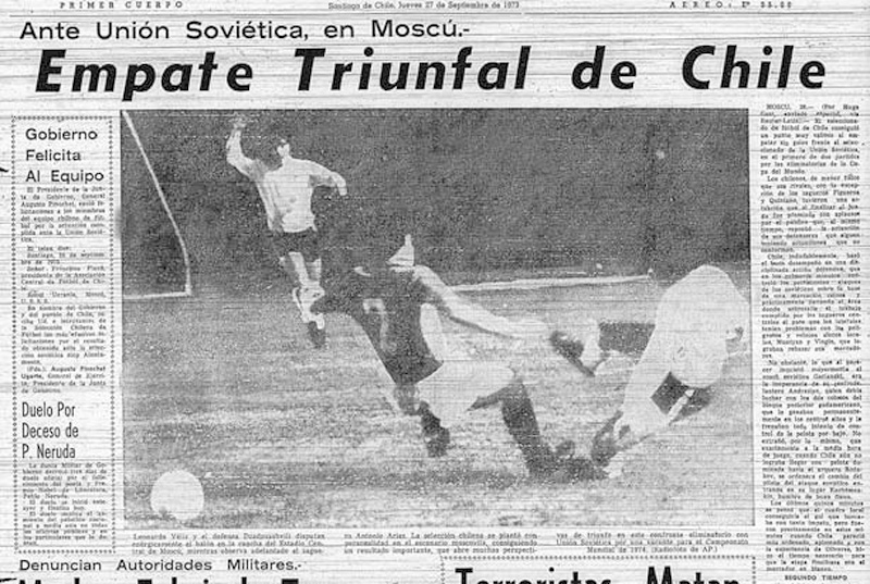 Il trionfo del Cile sui giornali