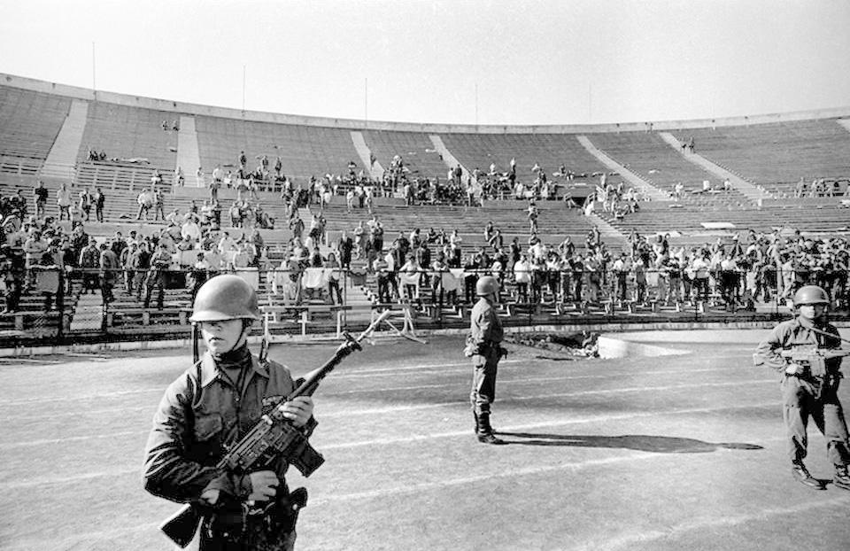 Estadio Nacional de Santiago durante Cile-URSS