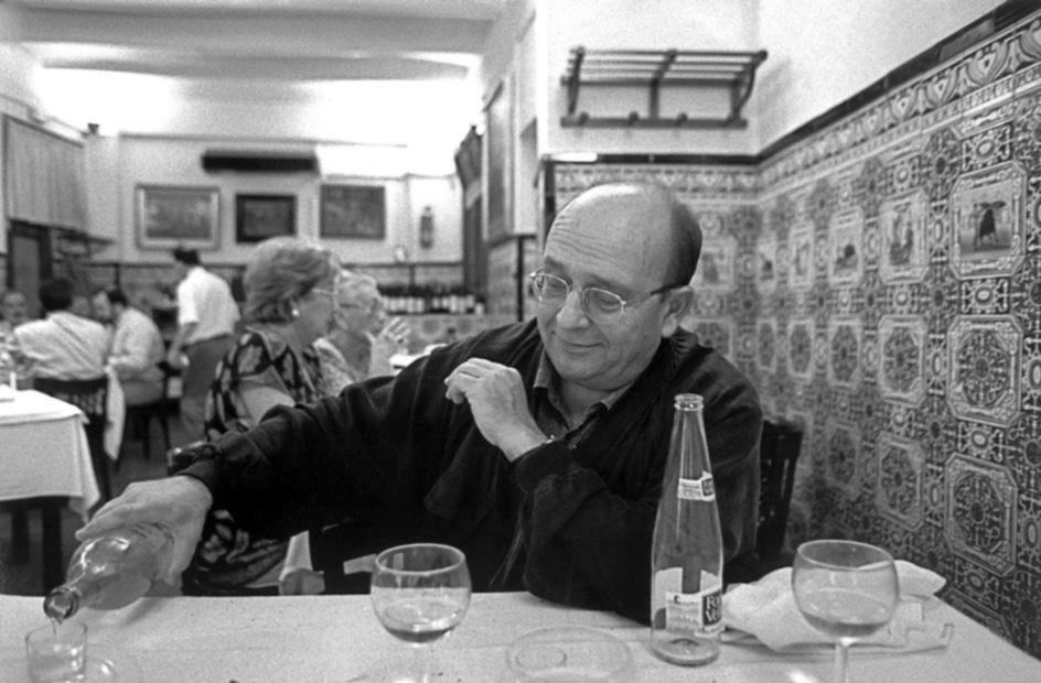 Manuel Vázquez Montalbán a tavola