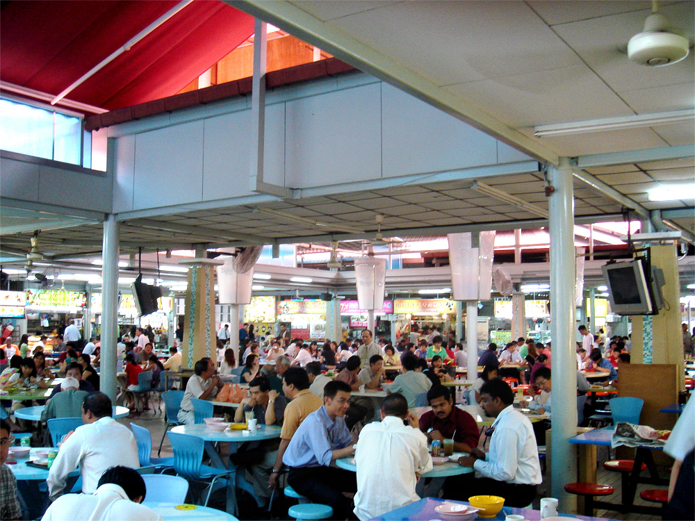 Un hawker centre a Singapore