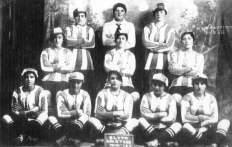 Blyth Spartans Munition Girls - Munitionette Cup Winners 1918