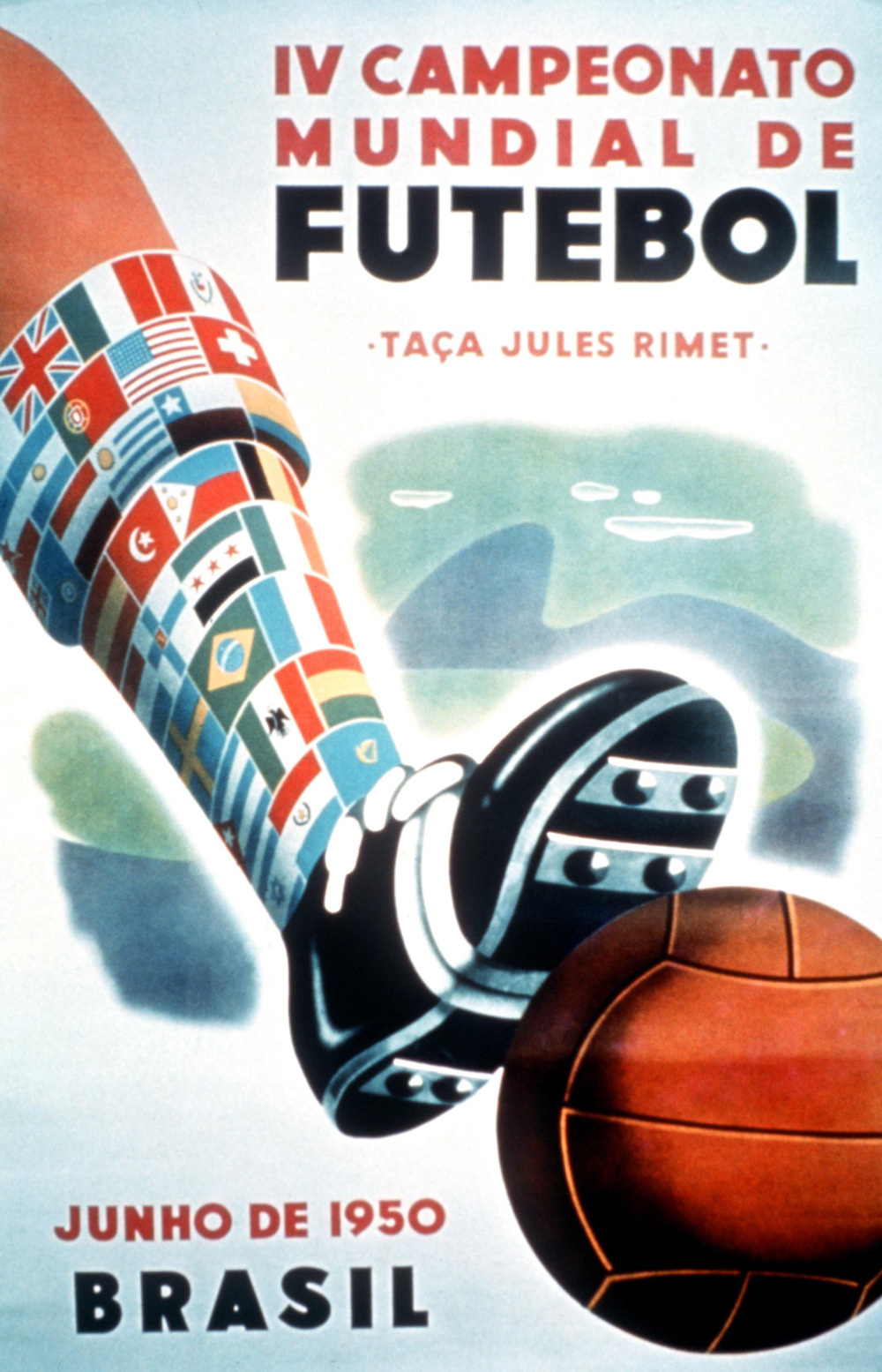 Poster World Cup Brazil 1950