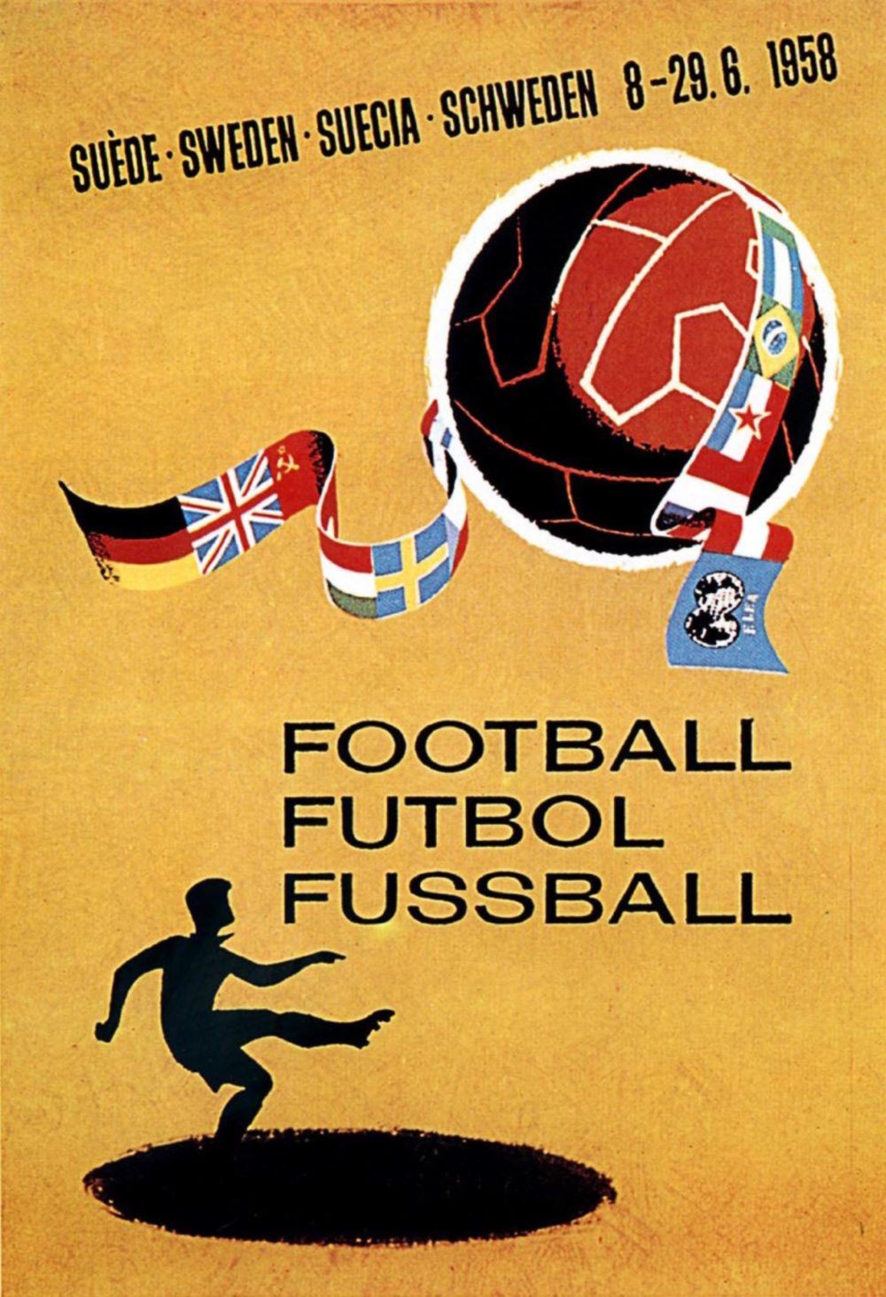 Poster World Cup Suede 1958